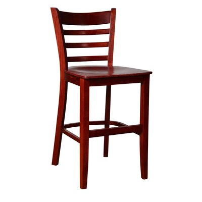 "24"" Bar Stool Finish: Mahogany"