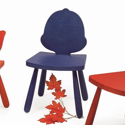 Leaf Acorn Kids Novelty Chair Color: Yellow, Size: 25