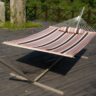 Cotton Tree Hammock Color: Elegant Tan Stripe