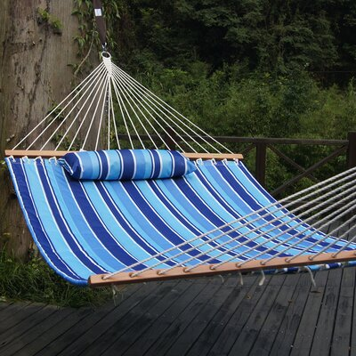 Cotton Tree Hammock Color: Classic Blue Stripes