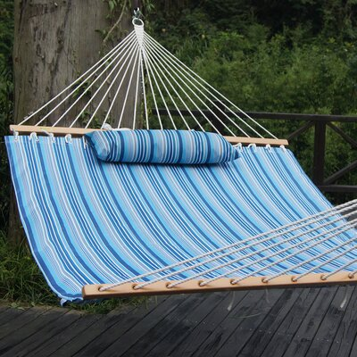 Cotton Tree Hammock Color: Light Blue Stripes
