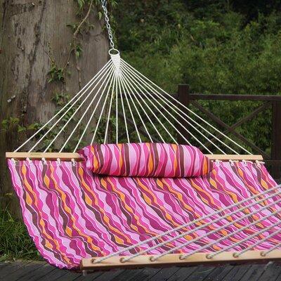 Cotton Tree Hammock Color: Lavender Wave Stripes