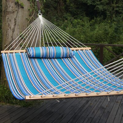 Cotton Tree Hammock Color: Blue Stripes