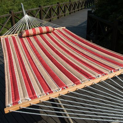 Cotton Tree Hammock Color: Cherry Stripe