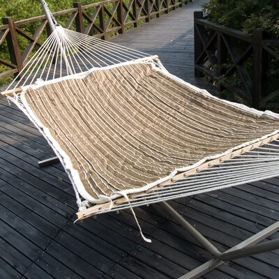 Cotton Hammock with Stand Color: Tan