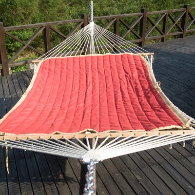 Cotton Hammock with Stand Color: Red