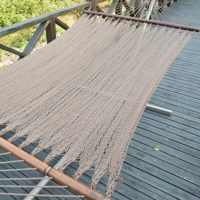 Two Point Tight Weave Caribbean Polyester Hammock Color: Mocha