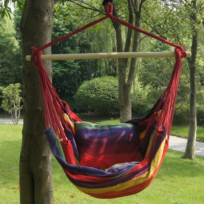 Stripe Soft Comfort Polyester and Cotton Chair Hammock Color: Tropical Stripe