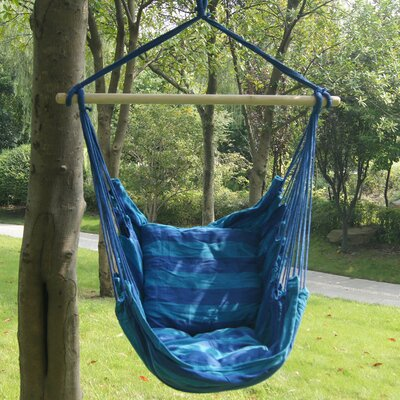 Stripe Soft Comfort Polyester and Cotton Chair Hammock Color: Seaside Stripe