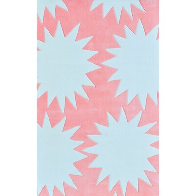 Starburst Hand Tufted Bubblegum Pink Area Rug