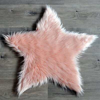Faux Sheepskin Blush Area Rug Rug Size: 2 x 2