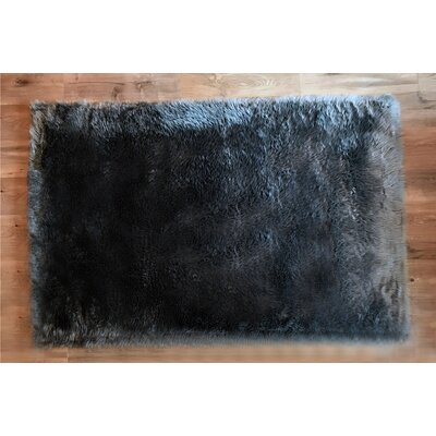 Faux Sheepskin Gray Area Rug