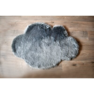 Cloud Faux Sheepskin Gray Area Rug