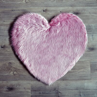 Heart Pink Area Rug