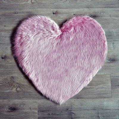 Heart Pink Area Rug