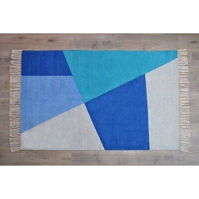 Dulaney Denim Hand Woven Cotton Blue Area Rug