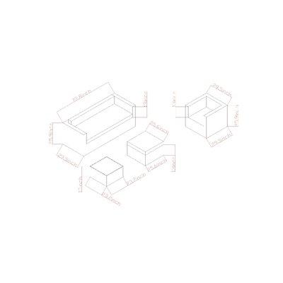 Maryann 4 Piece Sofa Set with Cushion