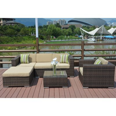 Jasmine 6 Piece Deep Seating Group with Cushion