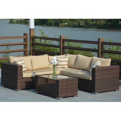 Evie 4 Piece Deep Seating Group with Cushion