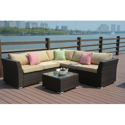 Keesler 4 Piece Deep Seating Group with Cushion