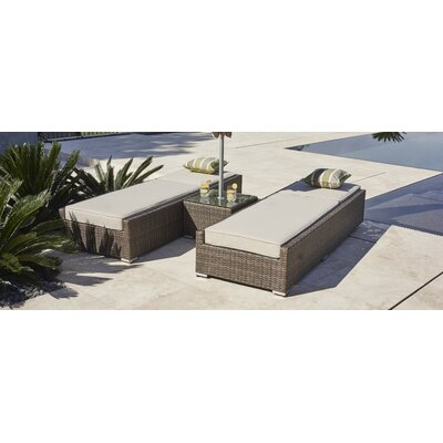 Contemporary Reclining Chaise Lounge Set Cushions Table Frame 974 Product Image