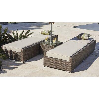 Vida 3 Piece Chaise Lounge with Cushion