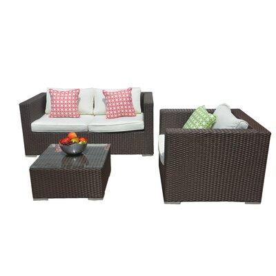 Smethwick 3 Piece Deep Seating Group with Cushion