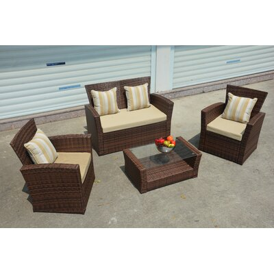 Vineland 7 Piece Deep Seating Group with Cushion