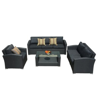 Walker 4 Piece Deep Seating Group with Cushion