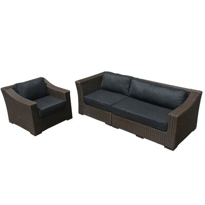 Tunstall 3 Piece Deep Seating Group with Cushion