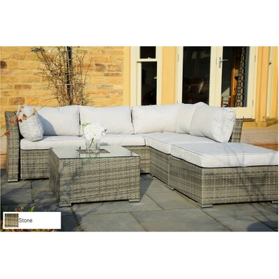 Atterberry 5 Piece Deep Seating Group with Cushion Finish: Mixed Grey