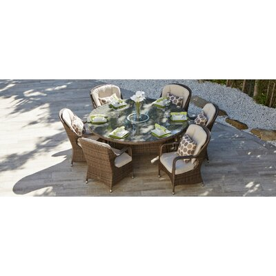 Leslie Outdoor 7 Piece Dining Set with Cushion