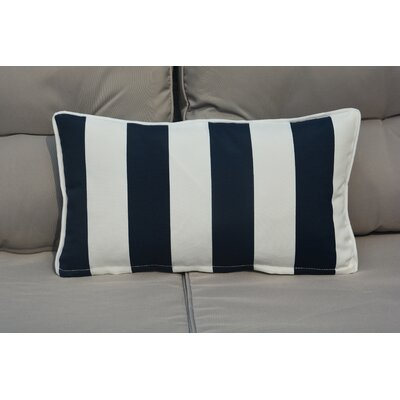 Melany Indoor/Outdoor Lumbar Pillow Color: Navy/White