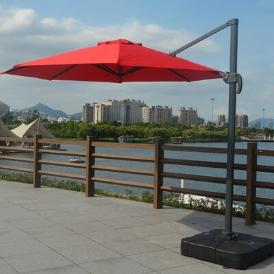 11 Mollett Cantilever Umbrella Fabric: Red