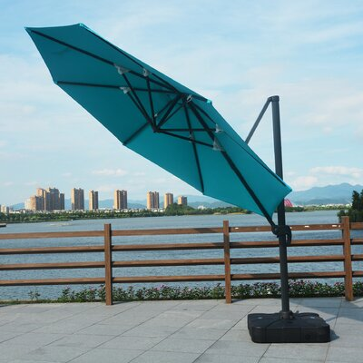 11 Mollett Cantilever Umbrella Fabric: Blue