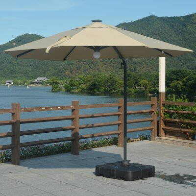 10 Mollett LED Cantilever Umbrella Fabric: Khaki