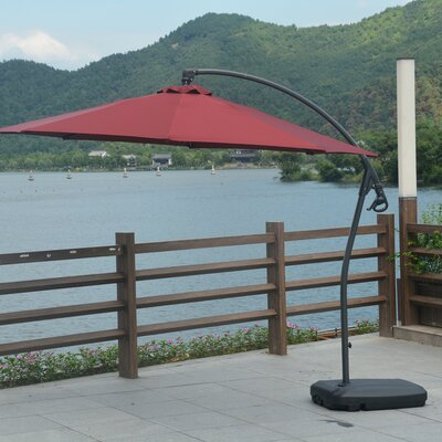 10 Anabel Cantilever Umbrella Fabric: Red