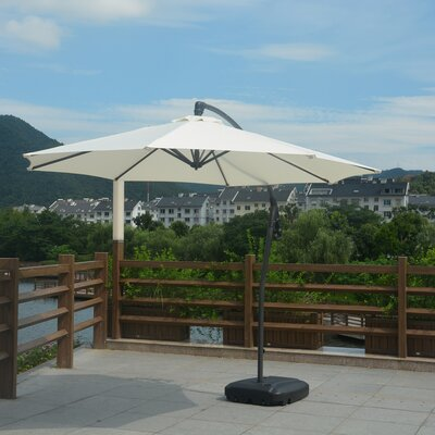 10 Anabel Cantilever Umbrella Fabric: White