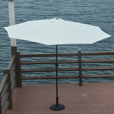 10 Mickinley Market Umbrella Fabric: White