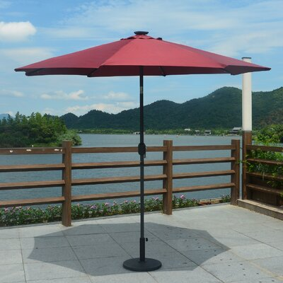 9 Mickinley LED Market Umbrella Color: Red