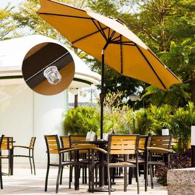 9 Mickinley LED Market Umbrella Color: Beige