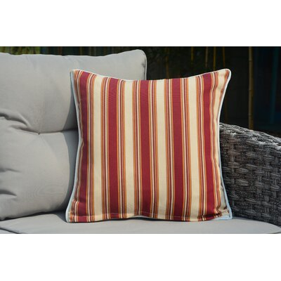 Beckett Square Striped Outdoor Throw Pillow
