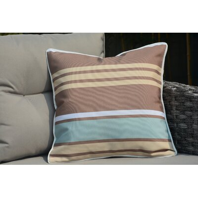 Beckett Zippered Striped Outdoor Throw Pillow