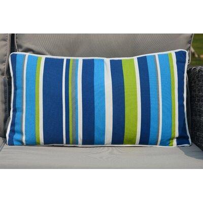Bedford Zippered Striped Outdoor Lumbar Pillow