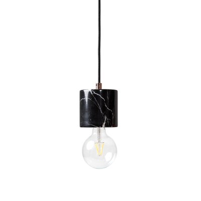 1-Light Bare Bulb Mini Pendant Shade Color: Black