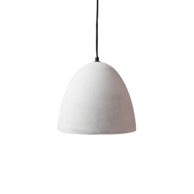 Modern Concrete 1-Light Mini Pendant
