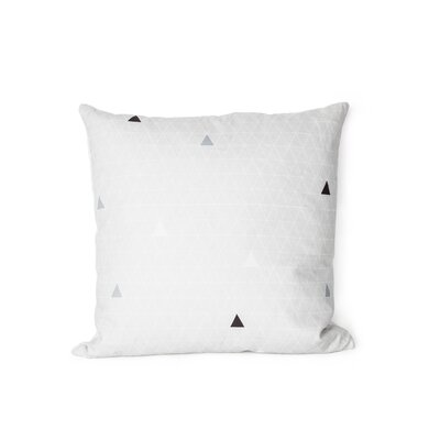 Printed Triangle Cotton Throw Pillow