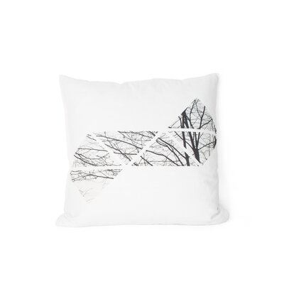 Printed Trees Cotton Throw Pillow