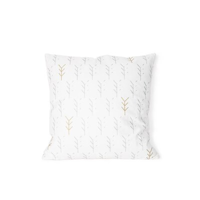 Printed Gren Cotton Throw Pillow