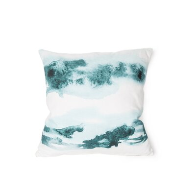 Printed Amaranth Cotton Throw Pillow